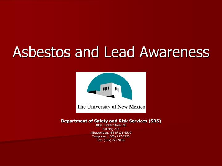 asbestos and lead awareness n.