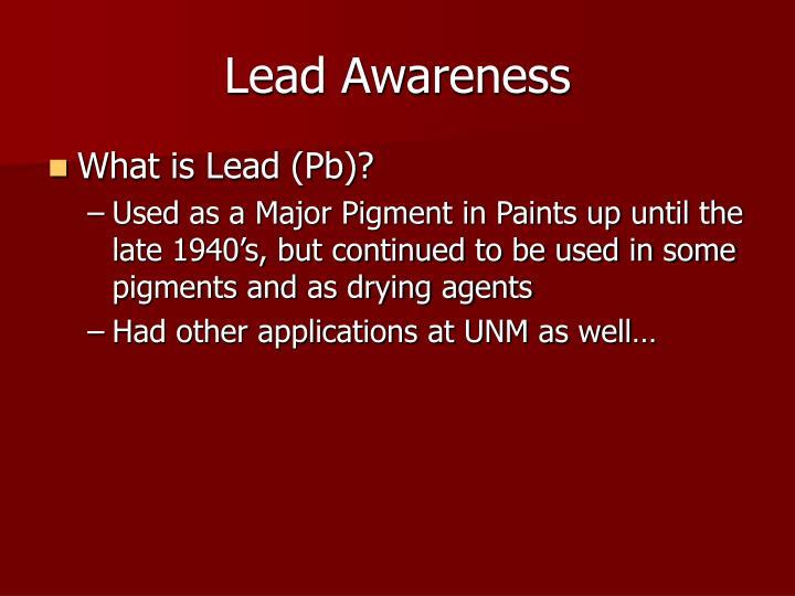 Lead Awareness