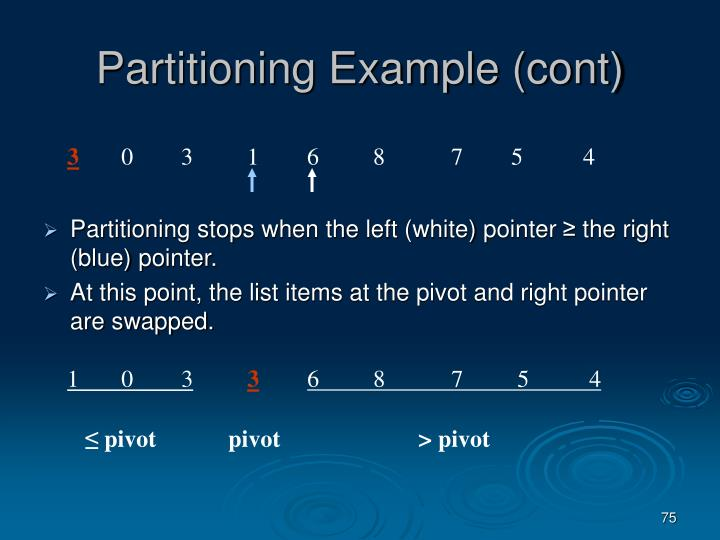 Partitioning Example (cont)