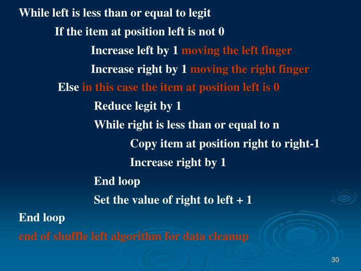 While left is less than or equal to legit