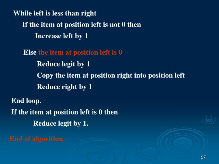 While left is less than right