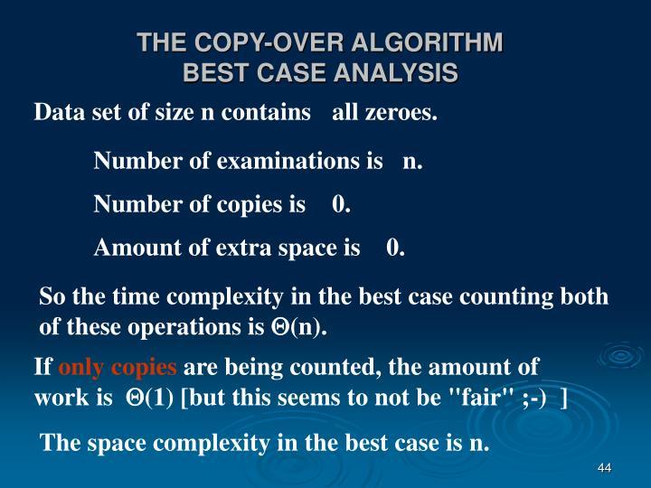 THE COPY-OVER ALGORITHM
