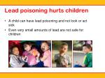 lead poisoning hurts children