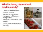 what is being done about lead in candy
