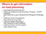 where to get information on lead poisoning