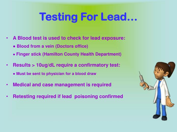 Testing For Lead…