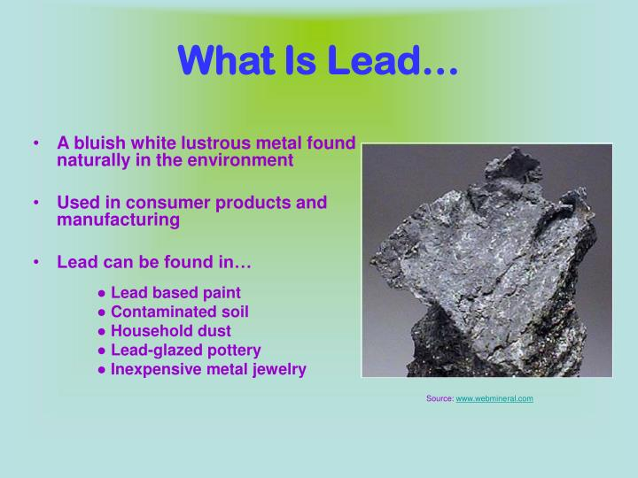 What Is Lead…