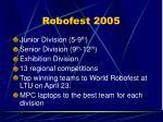 robofest 2005