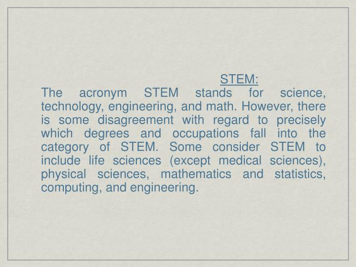 STEM: