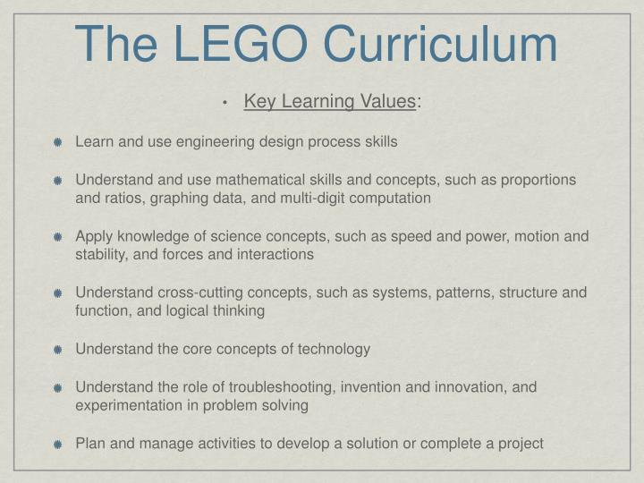 The LEGO Curriculum