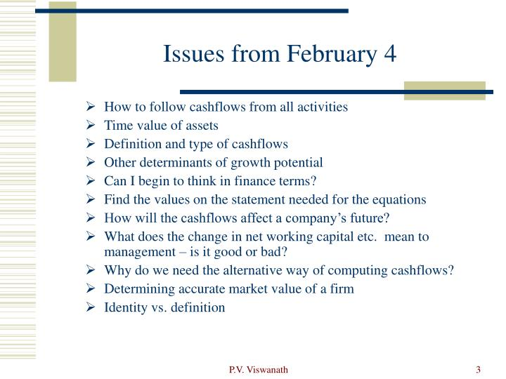Issues from february 4
