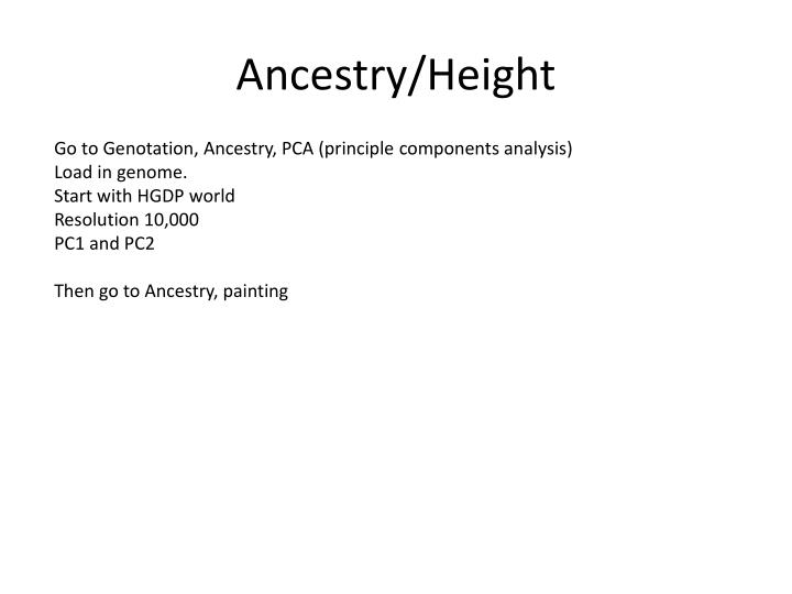 Ancestry/Height