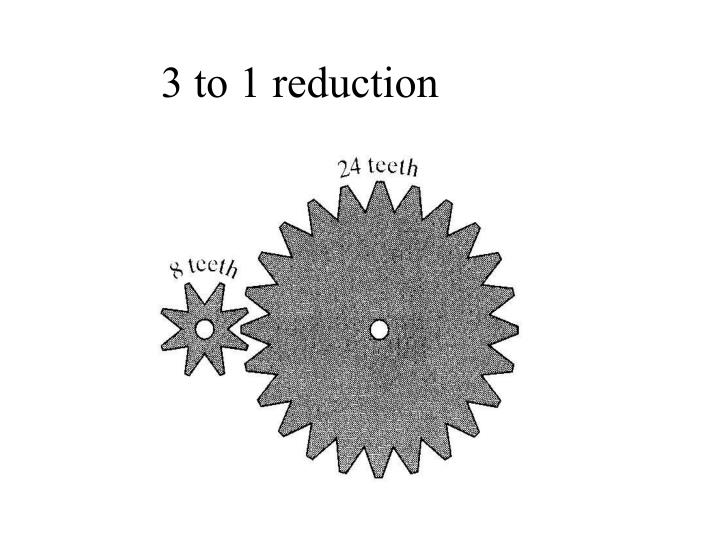 3 to 1 reduction
