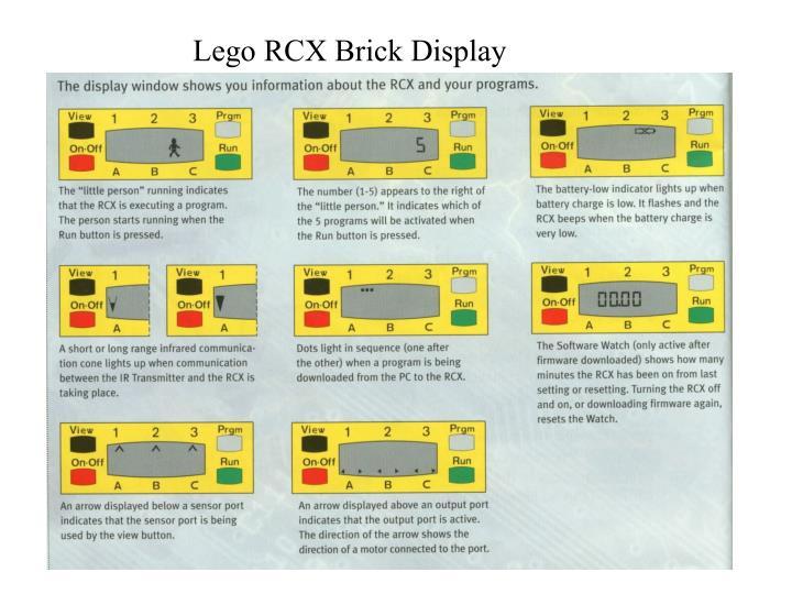 Lego RCX Brick Display
