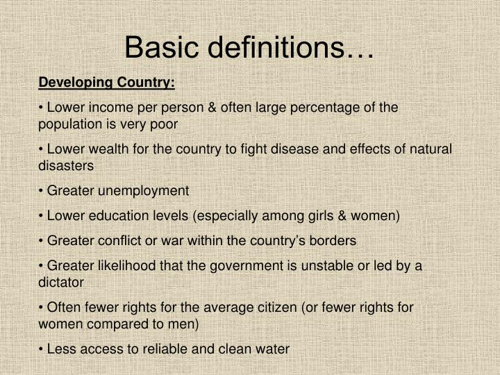 Basic definitions…