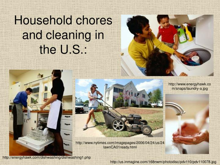 Household chores and cleaning in the U.S.: