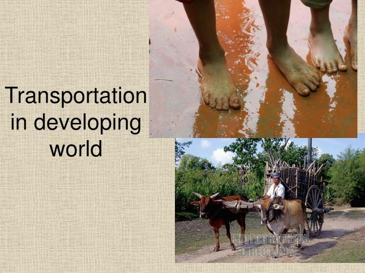 Transportation in developing world