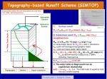 topography based runoff scheme simtop