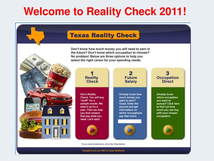 Welcome to Reality Check 2011!