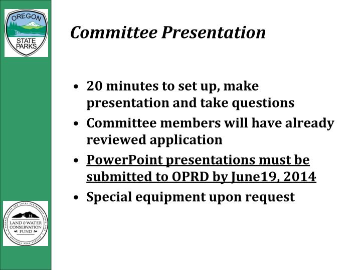 Committee Presentation