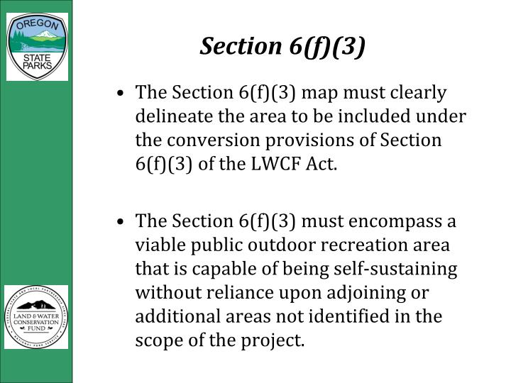 Section 6(f)(3)