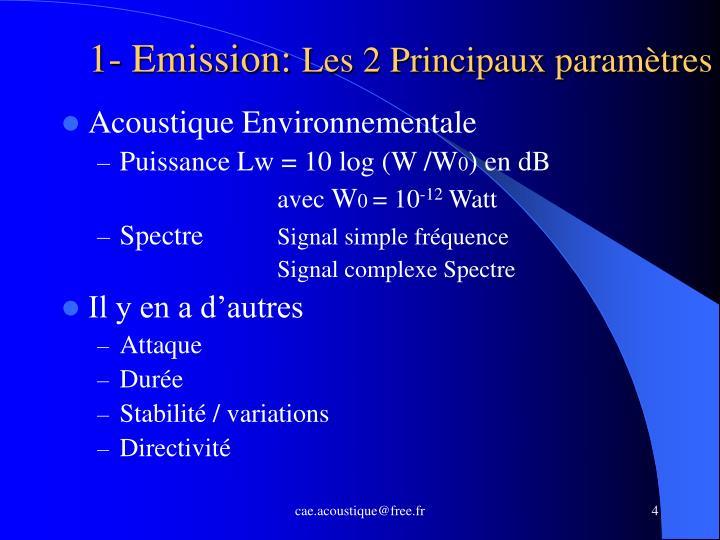 1- Emission: