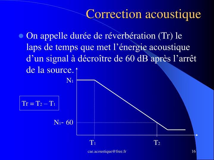 Correction acoustique