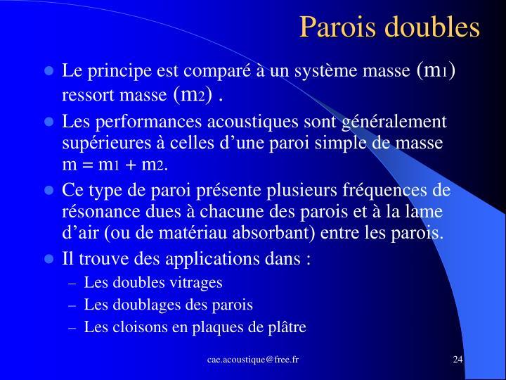 Parois doubles