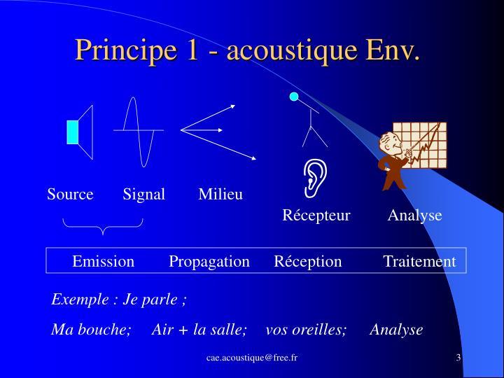 Principe 1 acoustique env