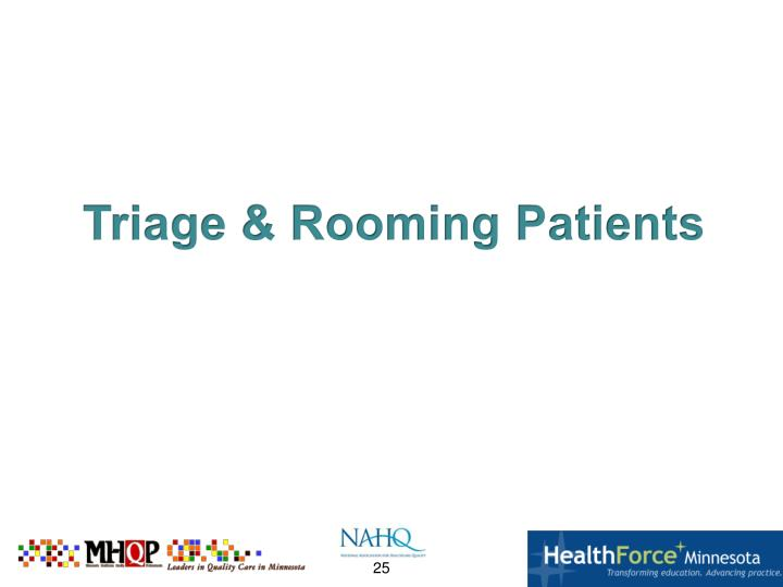 Triage & Rooming Patients