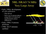 nrl nrao 74 mhz very large array