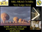 nrl nrao 74 mhz very large array1