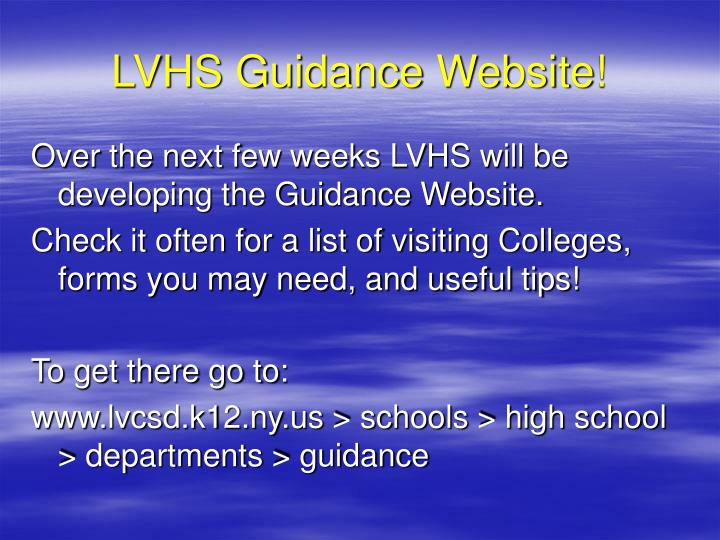 LVHS Guidance Website!