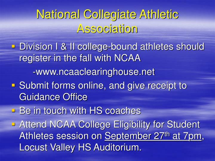 National Collegiate Athletic Association