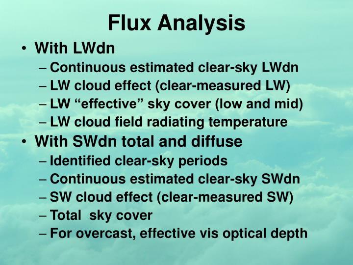Flux Analysis
