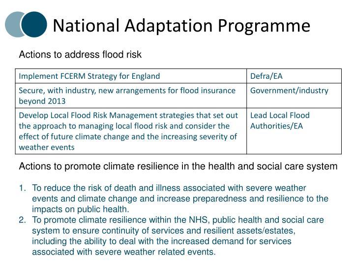 National Adaptation Programme