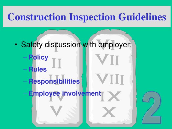 Construction Inspection Guidelines