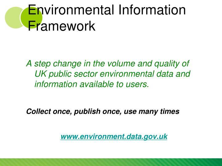 Environmental Information Framework