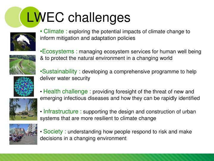 LWEC challenges