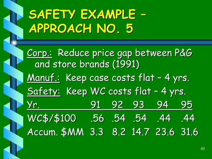 SAFETY EXAMPLE –