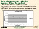 degradation due to radiation damage fiber darkening