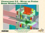 viewscreen 2 0 mirror on proton beam window assembly