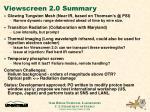 viewscreen 2 0 summary