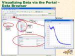 visualizing data via the portal data browser