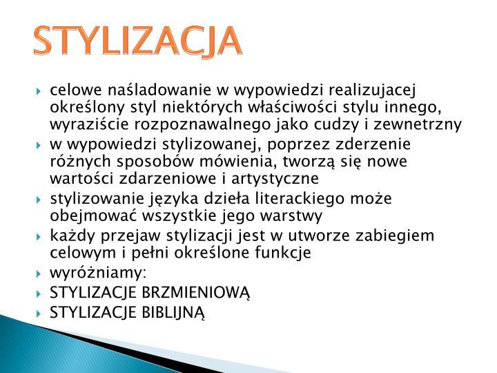 STYLIZACJA
