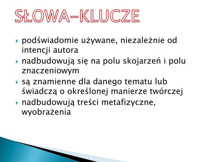 SŁOWA-KLUCZE