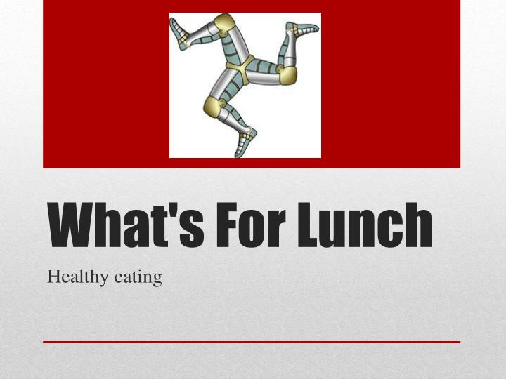 what s for lunch n.