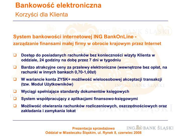 System bankowości internetowej ING BankOnLine -