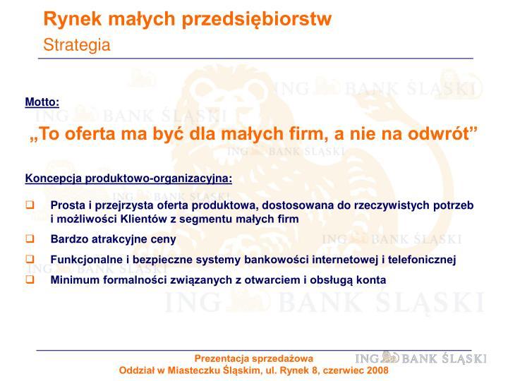 Rynek małych przedsiębiorstw