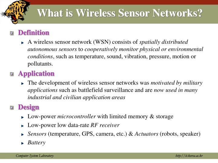 What is Wireless Sensor Networks?